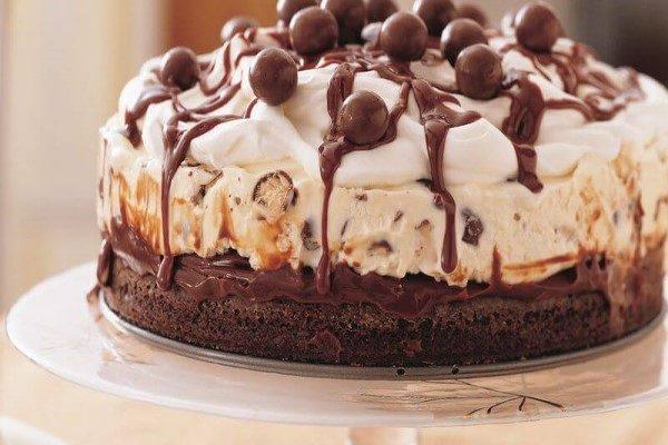 آشنایی با روش تهیه کیک بستنی قهوه با شکلات + تصاویر