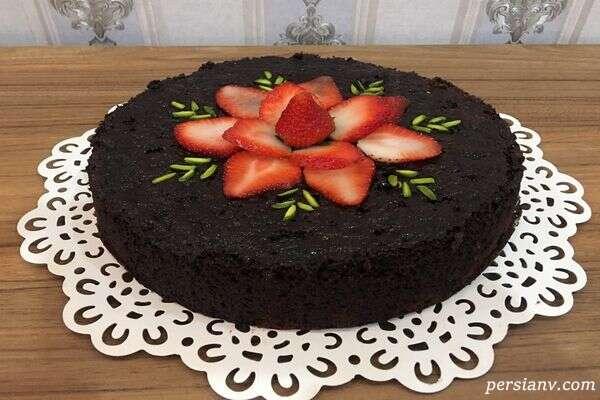 کیک شکلات تلخ