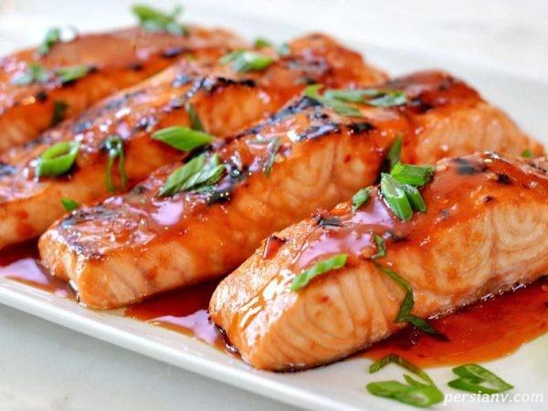 طبخ ماهی سالمون
