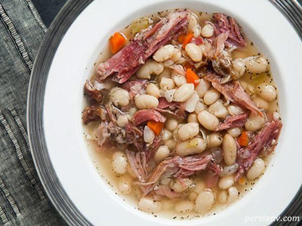 طرز تهیه ی سوپ لوبیا و گوشت