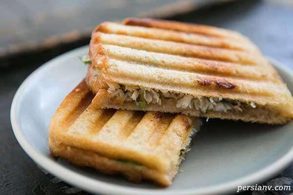 ساندویچ نان تست/ وقتی حوصله شام درست کردن ندارید…