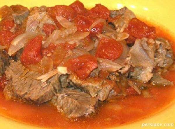 غذا با گوشت بره