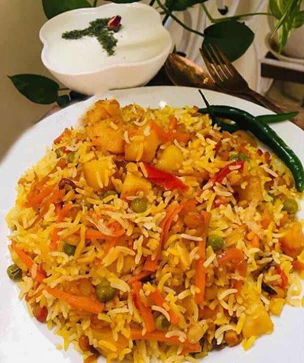 طرز تهیه نخود پلو با سبزیجات ( غذای ترکیه ای )