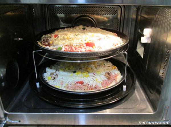 طرز پخت برنج با مایکروفر