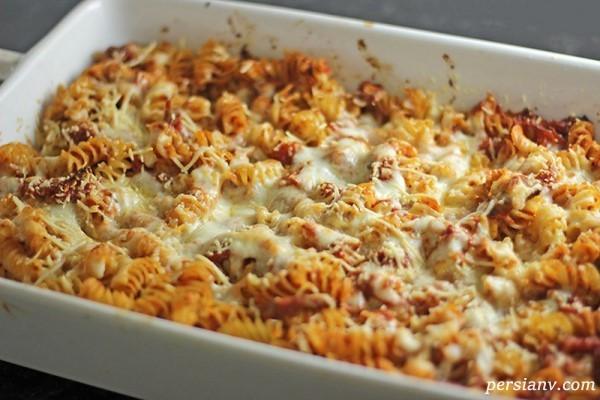 طرز تهیه پاستا فرمی با سس پنیری