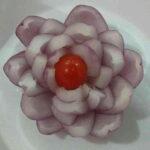 تزیین پیاز به شکل گل زیبا