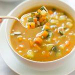 سوپ کرفس و هویج، شام سبک پاییزی