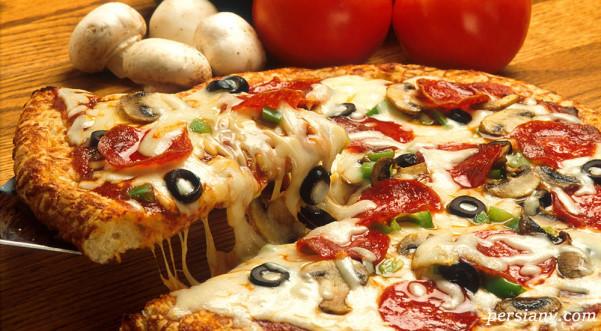 طرز تهیه پیتزای گوشت بدون سوسیس و کالباس