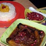 طرز تهیه مسما انار و بادمجان برای شب یلدا