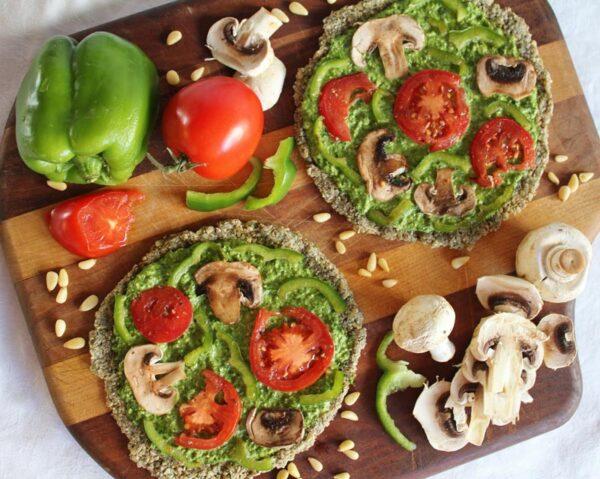 پیتزای گیاهی