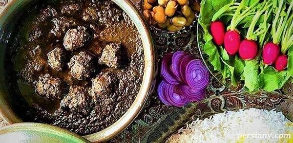 طرز تهیه خورش انار آویج گیلانی