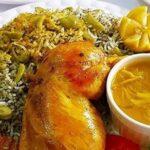 طرز تهیه سبزی پلوی خوشمزه با مرغ