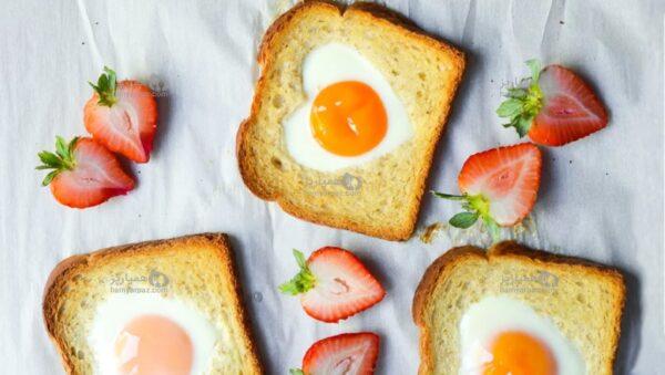 طرز تهیه تخم مرغ های قلبی شکل ، برای یک صبحانه عاشقانه