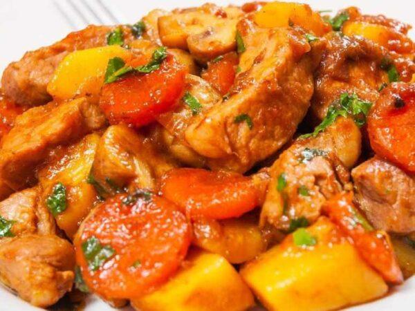 خوراک مرغ و هویج