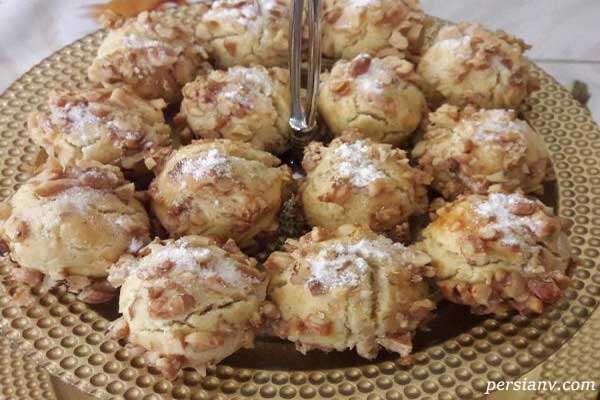 شیرینی مخصوص عید نوروز ، شیرینی های توپی گردویی