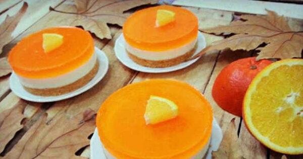 مواد لازم برای تهیه چیز کیک پرتقالی