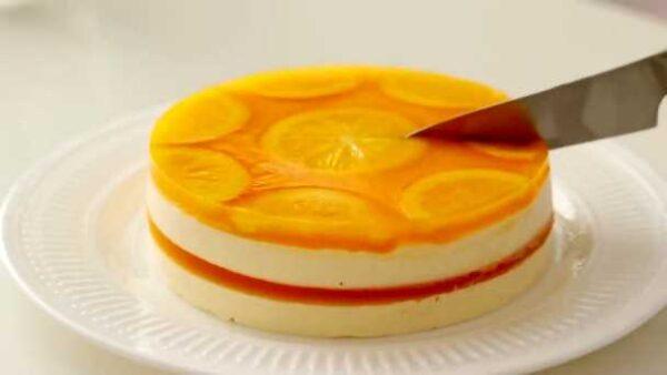 چیز کیک پرتقالی