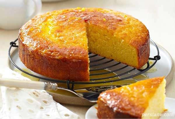 طرز تهیه کیک شربتی پرتقالی خوشمزه