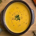 سوپ هویج و زنجبیل بسیار خوشمزه و خوش طعم