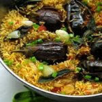 طرز تهیه بادمجان پلو غذای محلی قزوین بسیار لذیذ و آسان