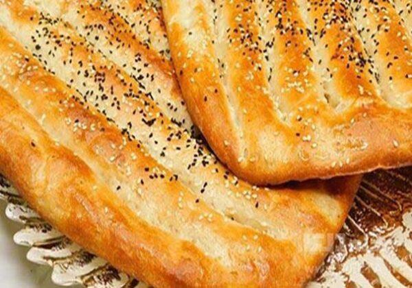 نان بربری کنجدی خوشمزه