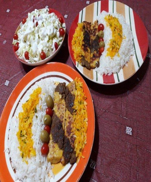 طرز تهیه کباب تابه ای دو رنگ بسیارخوشمزه، غذایی سرشار از پروتئین