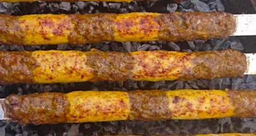 کباب تابه ای دو رنگ