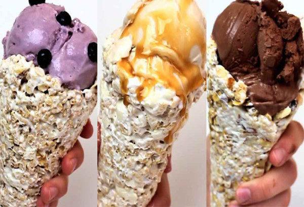 طرز تهیه بستنی قیفی خانگی ، در خانه هم میشود بستنی درست کرد
