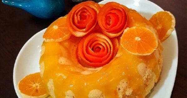 طرز تهیه کیک با روکش کرم پرتقالی ، یک عصرانه عالی و خوشمزه