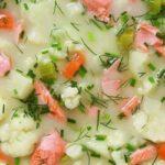 طرز تهیه سوپ سالمون ، مناسب فصل های سرد