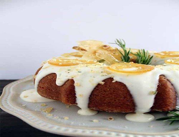 کیک رزماری و لیمو ، دسر خوشمزه از سری دستورهای آشپزی جیمی الیور