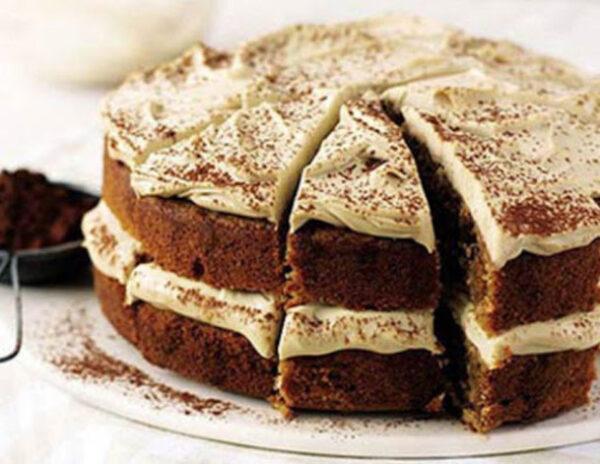کیک کاپوچینو دسر بسیار خوشمزه و عالی برای مهمانی هایتان