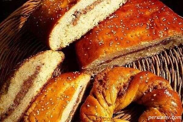 نان مغزدار با سیب و دارچین