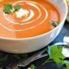 سوپ گوجه فرنگی و برنج یک پیش غذای گرم برای روزهای سرد