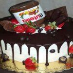 کیک نوتلا یک دسر عالی با ظاهری زیبا برای مهمانانتان