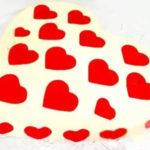 ژله دو رنگ قلبی برای پذیرایی از مهمان ها در مجالس