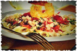 لینگوئن میگو یک غذای خوشمزه و مقوی برای میز شامتان
