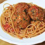 اسپاگتی با کوفته بوقلمون