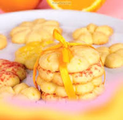 طرز تهیه بیسکویت پرتقالی