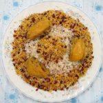 طرز تهیه کشمش پلو با مرغ (غذای شمالی)