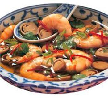 طرز تهیه خوراک میگو و سبزیجات