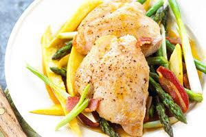 مرغ و مارچوبه یک غذای رژیمی