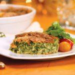 کوکوی اسفناج با ماست یونانی یک غذای مقوی و آسان