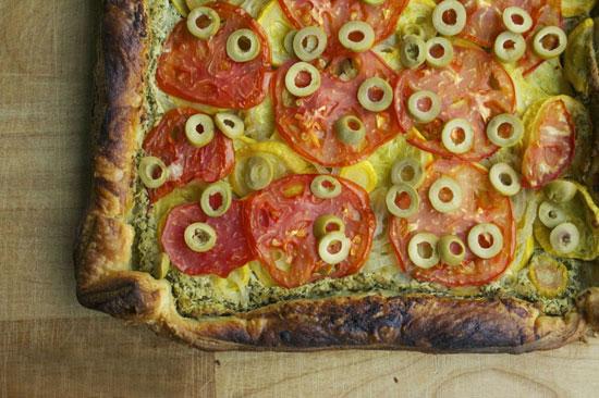تارت گوجه و کدو یک غذای رژیمی خوشمزه