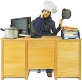 آشپزی به سبک کارمندی : غذا ی خوشمزه ، سالاد و نوشیدنی فوری