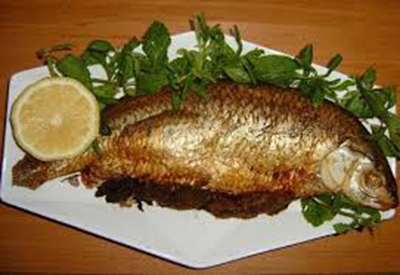 طرز تهیه ماهی شکم پر یا گردپیچ(کباب)