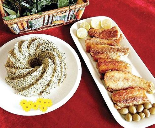 طرز تهیه یه سبزی پلو با ماهی خوشمزه به سبک اراکی ها !