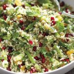 سالاد انار و بلغور ، یک پیش غذای خارجی و خوش رنگ از مارتا استوارت