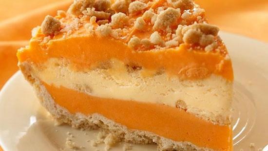 ژله بستنیِ پرتقالی با بیسکویت ، یک دسر عالی با ترکیبات خاص