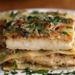 لازانیا چیکن آلفردو ، یک غذای شیک و آسان با ظاهری زیبا